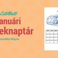 Letölthető januári gyereknaptár