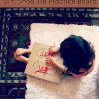 Cipőfűzés-gyakorlat