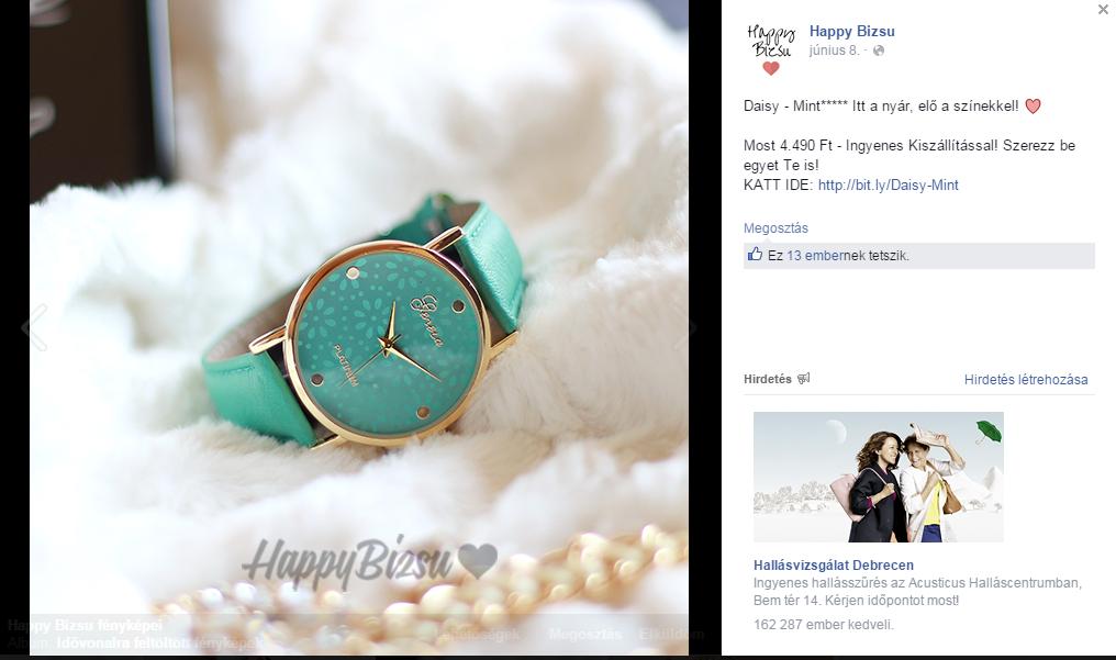 36fdc32858 A fő cink: Facebookon egyszer belinkeltem ebayről az egyik órájukat 1  dolcsiért a posztjuk alá azzal a szöveggel hogy milyen érdekesen drágán  adják azt, ...