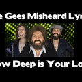 Bee Gees Misheard Lyrics - How Deep is Your Love