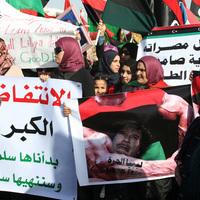 A pénteki tüntetés - Bengháziban