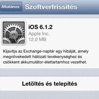 Itt az iOS 6.1.2
