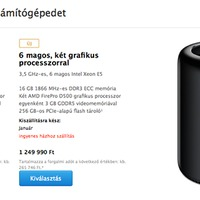 Rendelhető a Mac Pro, a kimaxolt példány 3 millió forint