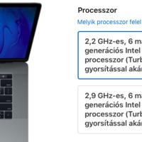 Hűtési probléma lehet a Core i9-es MacBook Prókkal