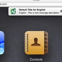 Értesítéséket tesztel az Apple az iCloud weboldalon