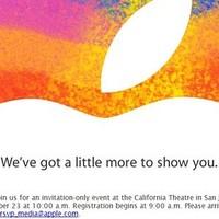 Október 23: iPad mini