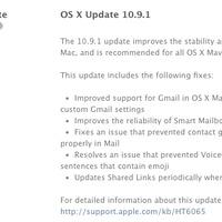 Itt az OS X 10.9.1