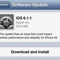 Megjelent az iOS 6.1.1, csak iPhone 4S-re