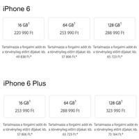 Itt vannak az iPhone 6 és iPhone 6 Plus hazai árai, szolgáltatók összehasonlításával