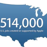 Félmillió amerikai munkahely köszönhető az Apple-nek