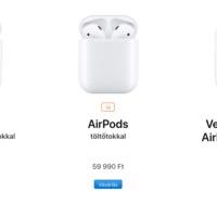 Megérkeztek az új AirPodok is!