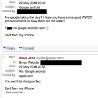 Jobs szerint az új iPhone lenyomja az Androidot
