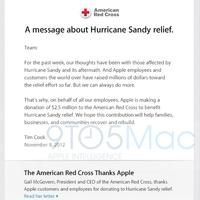 Az Apple 2,5 milliót adományozott a Sandy áldozatainak