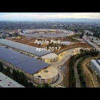 Célegyenesben az Apple Park építése