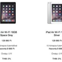 Már havi 8666 forinttól tied lehet egy iPad Air, kamat nélkül!