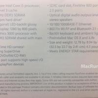 Kiszivárgott az új MacBook Pro specifikációja?