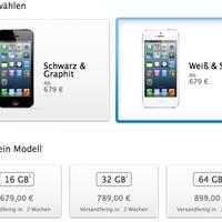 Az iPhone 5 európai árai