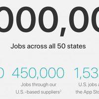 Két millió embernek ad munkát az Apple az USA-ban