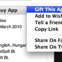 Ajándékozni is lehet az AppStore-ban