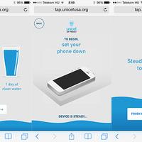 Van valami rémisztő az Unicef Tap mobiloldalában
