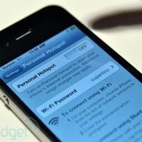 Wifi-hotspot lehet az iPhone-unkból