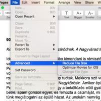 Óriásdokumentumok tömörítése OS X-en - Pages, Word és Preview