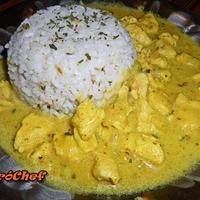Tejszínes currys csirkemell