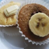 Fehércsokis és banános-nutellás muffinok