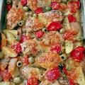 Mediterrán csirkecombok