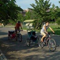 Biciklizés utánfutóval