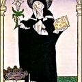 Szent Margit a kertben