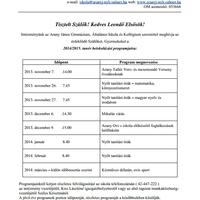 2014 / 2015. tanév beiskolázási programja - Arany - Nyíregyháza