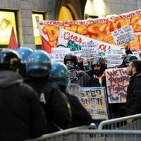 Tüntetők és rendőrök összecsapása kísérte a Scala évadnyitóját