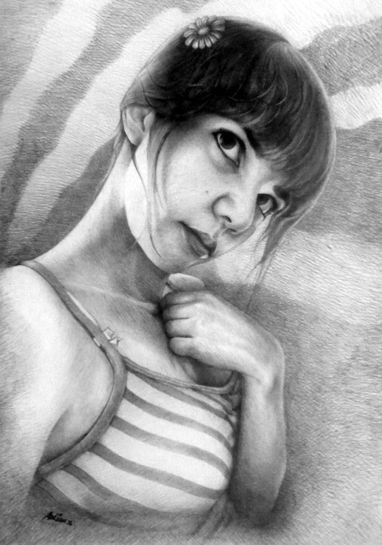 PORTRÉ XXXVIII (DORKA PORTRÉJA) - Portré, MMVIII - Tus, toll, karton - 70 X 50 cm.jpg