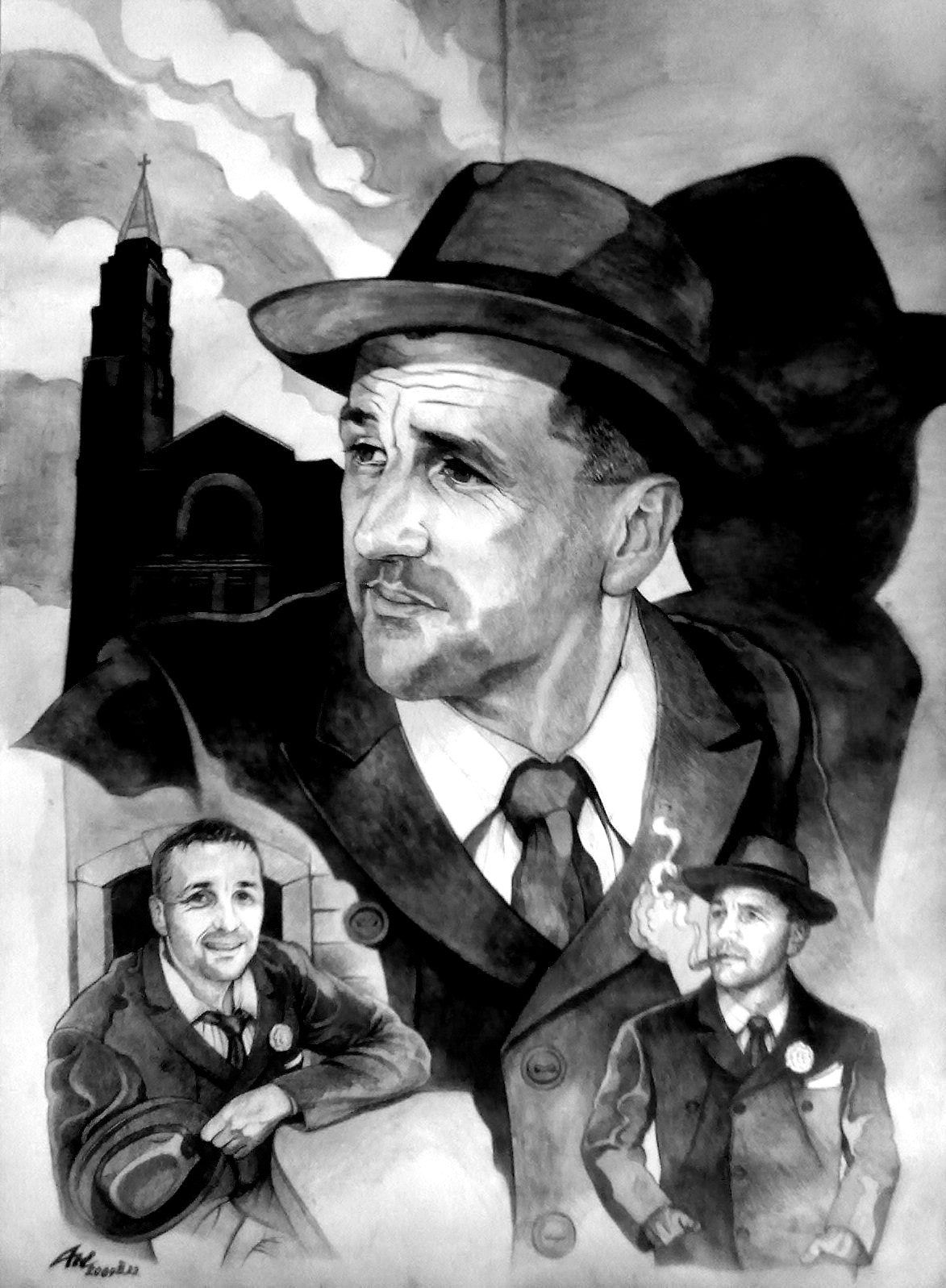 THE GENGRE GANGSTER I - Plakát; Portré, MMIX - Tus, toll, lavírozott tus, karton - 70 X 50 cm.jpg