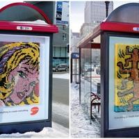 Képzőművészet a buszmegállóban