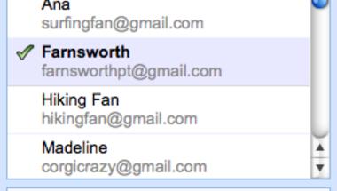 Több címzett kiválasztása Gmailben