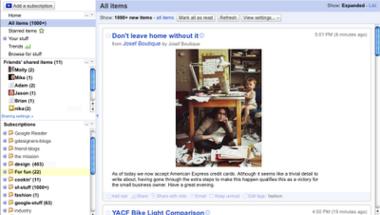Google Reader új köntösben