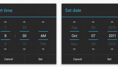 Tekerős vs. tárcsázós időválasztás Androidon