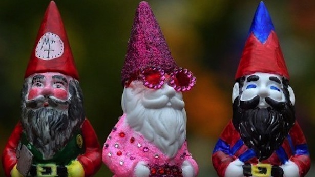 The-garden-gnome-centre-painted-by-Elton-John-on-display-at-the-Chelsea-Flower-Show-on-Monday.-AFP.jpg