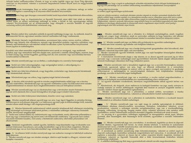 Mese az Emberi Jogok Nyilatkozatáról