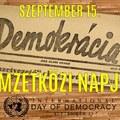A demokrácia nemzetközi napja - szeptember 15