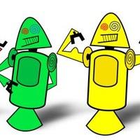 A kicsi, zöld robot