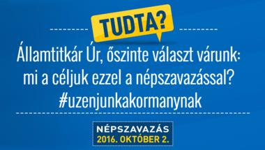 Őszinte válasz Dömötör Csaba Államtitkár Úrnak