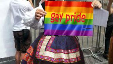 Orosz Mihály Zoltán a Budapest Pride-on