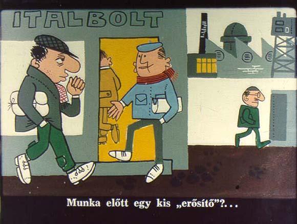 Ó Mr Alkohol - nevelő piavetítés avagy diafilm, 1965-ből