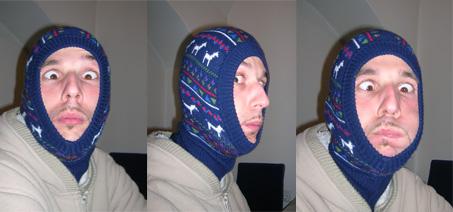 Retro sapkával a hideg ellen