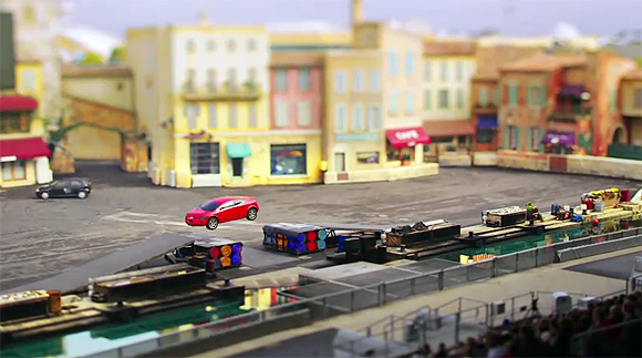 Miniatűr Disneyland - tilt-shift vidámpark