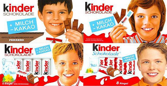 A Kinder csokoládé reklámarca napjainkban - és régebben
