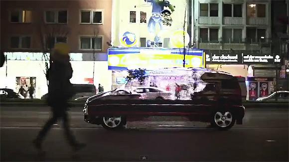 A láthatatlan autó - kreatív reklám a Mercedestől